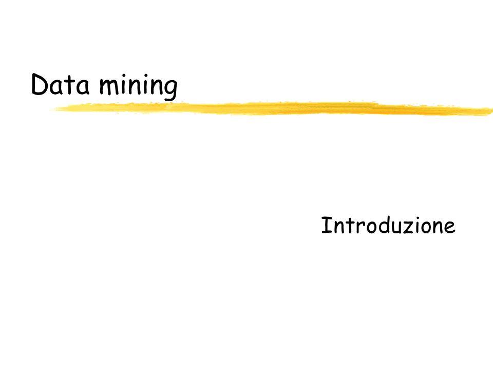 Ipotesi di funzionamento zTraining set contenuto nella memoria principale del sistema zNelle DB attuali possono essere disponibili anche Mbyte di training set ydimensioni significative del training set possono migliorare laccuratezza della classificazione