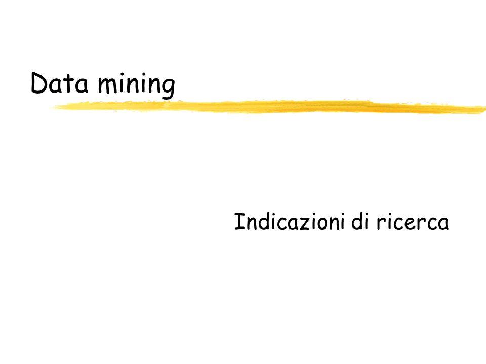 Data mining Indicazioni di ricerca