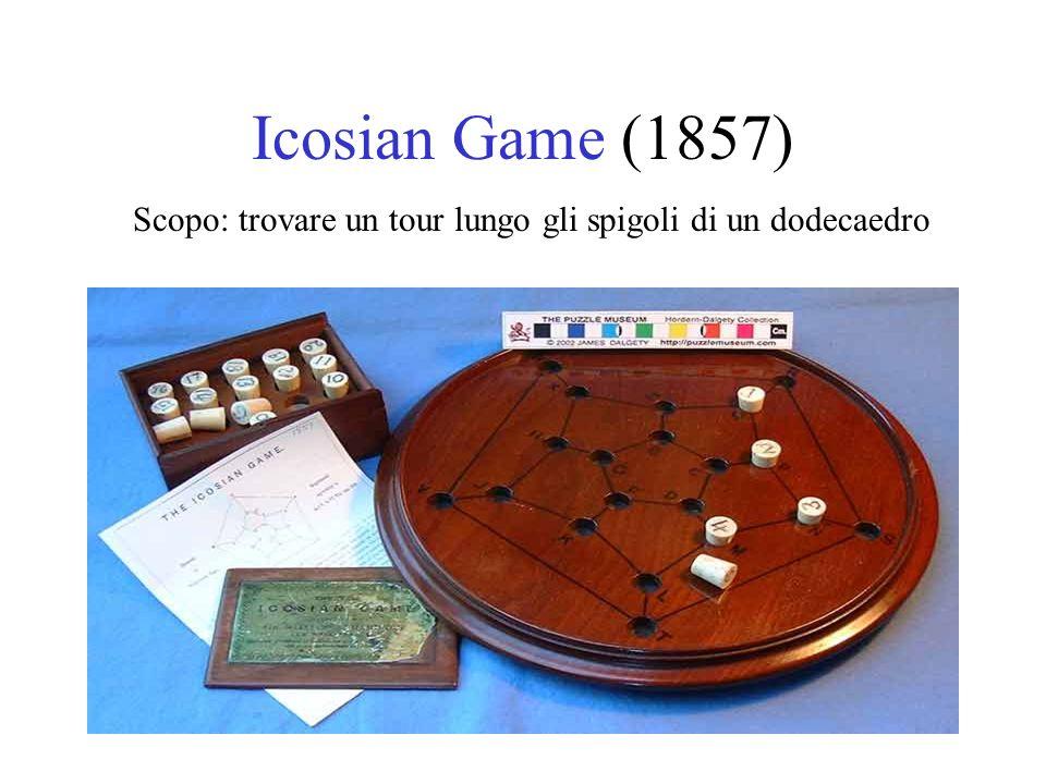 Icosian Game: Scacchiera Il tour deve passare una sola volta da ogni nodo E un caso molto particolare di TSP!