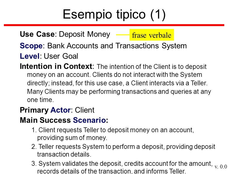 v.0.0 Esempio tipico (2) Extensions: 2a.