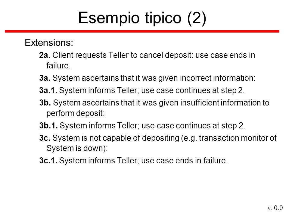 v.0.0 Attori (1) Alcune definizioni –The actors represent what interacts with the system.