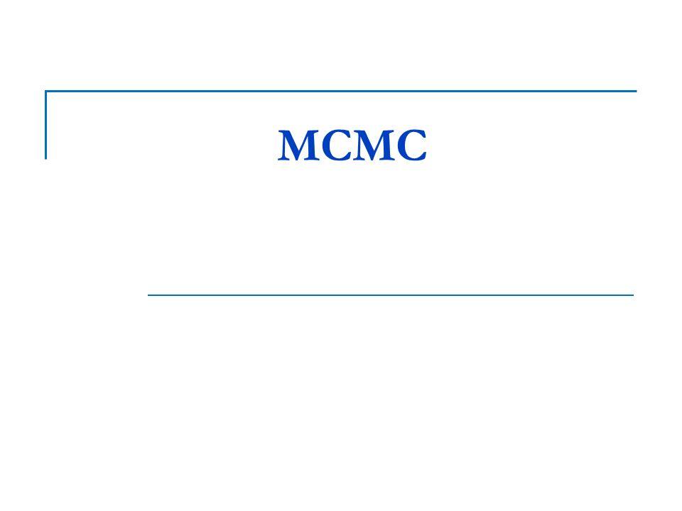 MCMC La strategia di campionamento MCMC consiste nella costruzione di catene di Markov aperiodiche e irriducibili per le quali la distribuzione stazionaria sia esattamente la distribuzione target π.