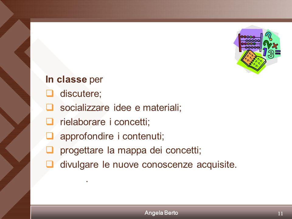 Angela Berto 10 Dove hanno lavorato gli studenti? In classe. In laboratorio di informatica. A casa..