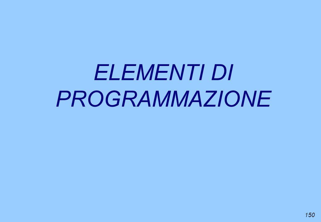 150 ELEMENTI DI PROGRAMMAZIONE