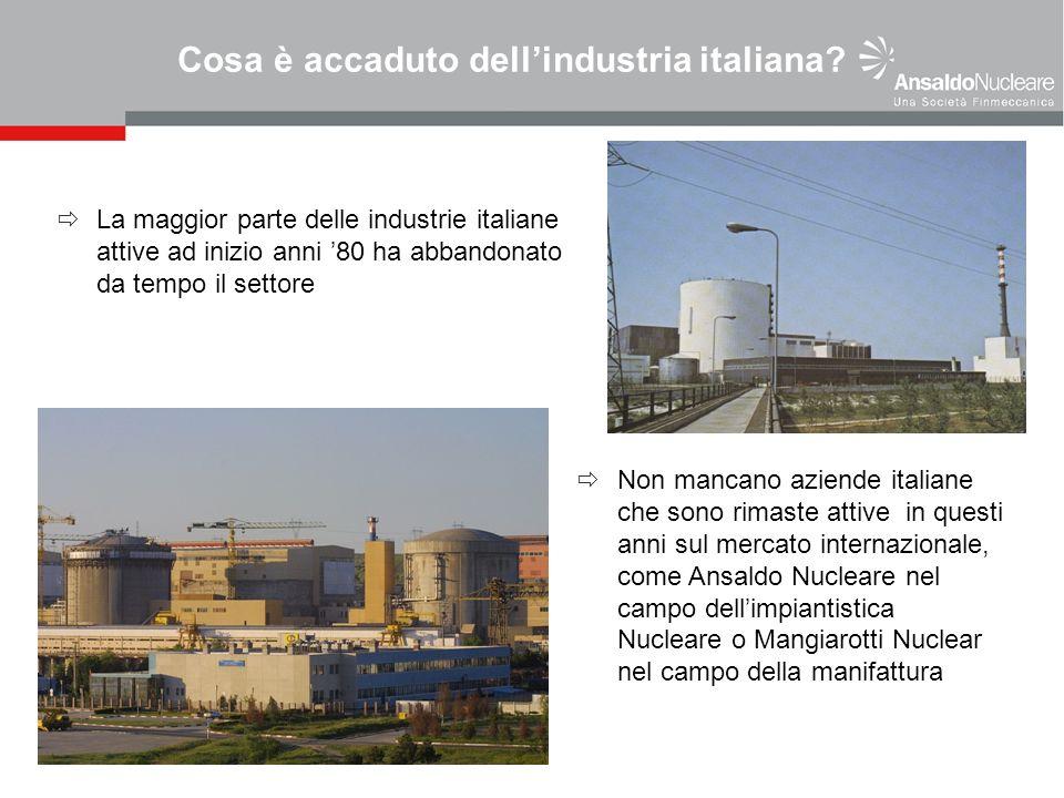 Cosa è accaduto dellindustria italiana? La maggior parte delle industrie italiane attive ad inizio anni 80 ha abbandonato da tempo il settore Non manc