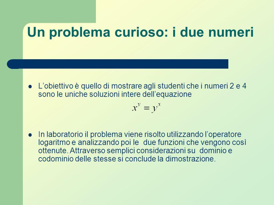 Un problema di scelta Lobiettivo è mostrare agli studenti come attraverso luso della funzione esponenziale linvestitore possa scegliere quale sia la p