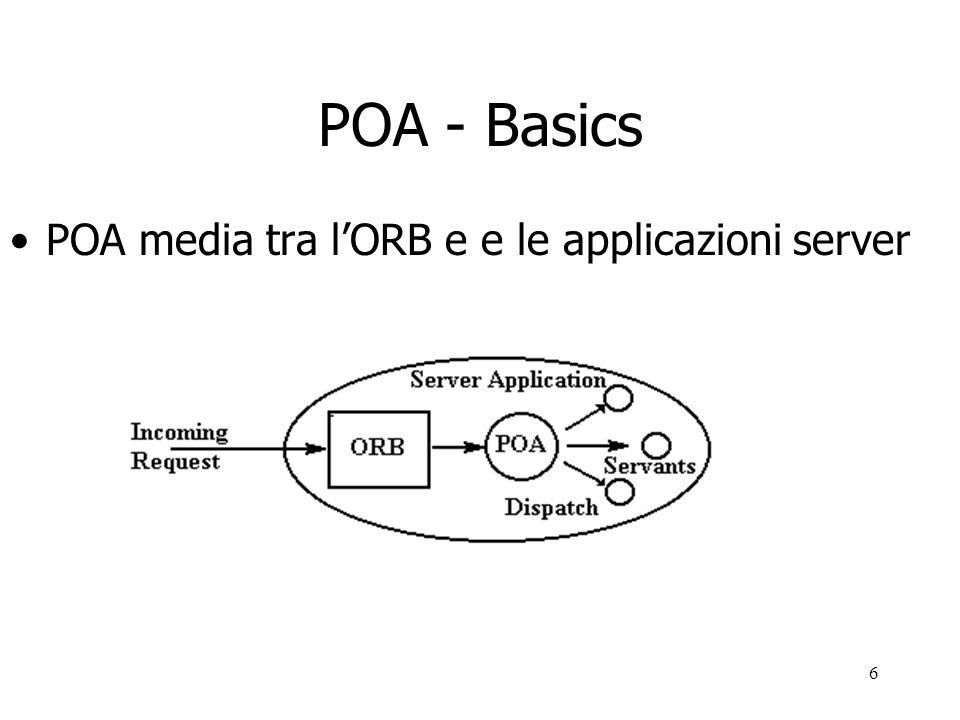 6 POA - Basics POA media tra lORB e e le applicazioni server