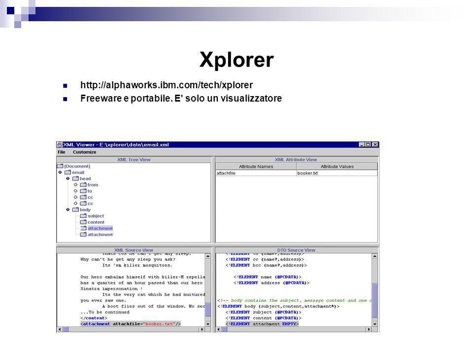 Xplorer http://alphaworks.ibm.com/tech/xplorer Freeware e portabile. E solo un visualizzatore