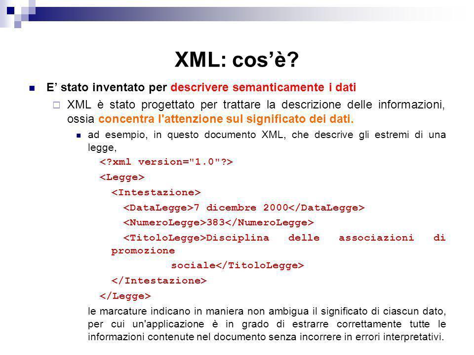 XML: cosè.