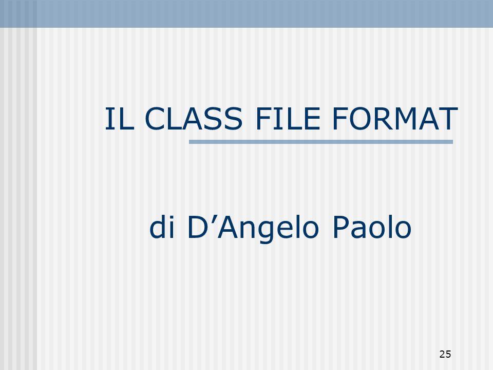 25 IL CLASS FILE FORMAT di DAngelo Paolo