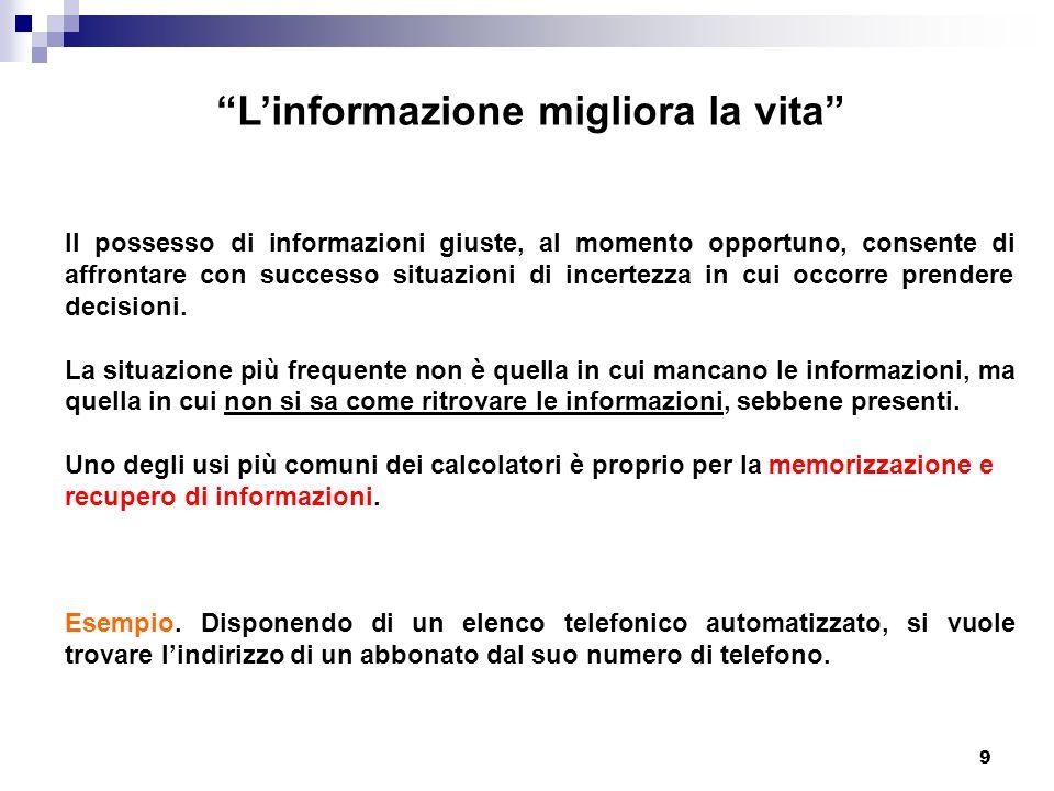 90 Sistemi per il recupero delle informazioni PARTE - IV COME SI PROCEDE