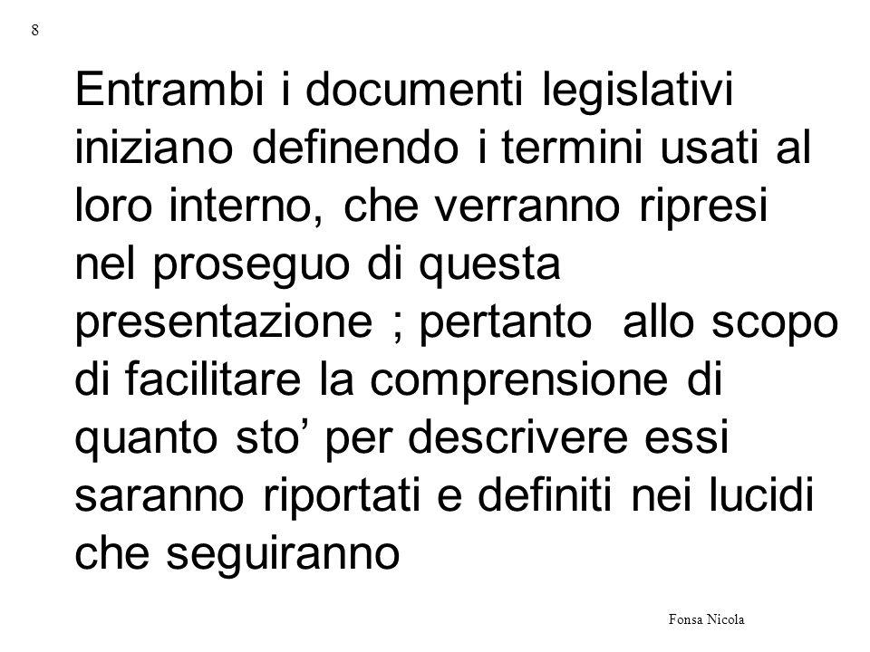 9 Fonsa Nicola TermineDefinizione documento informatico rappresentazione informatica di atti, fatti o dati giuridicamente rilevanti.