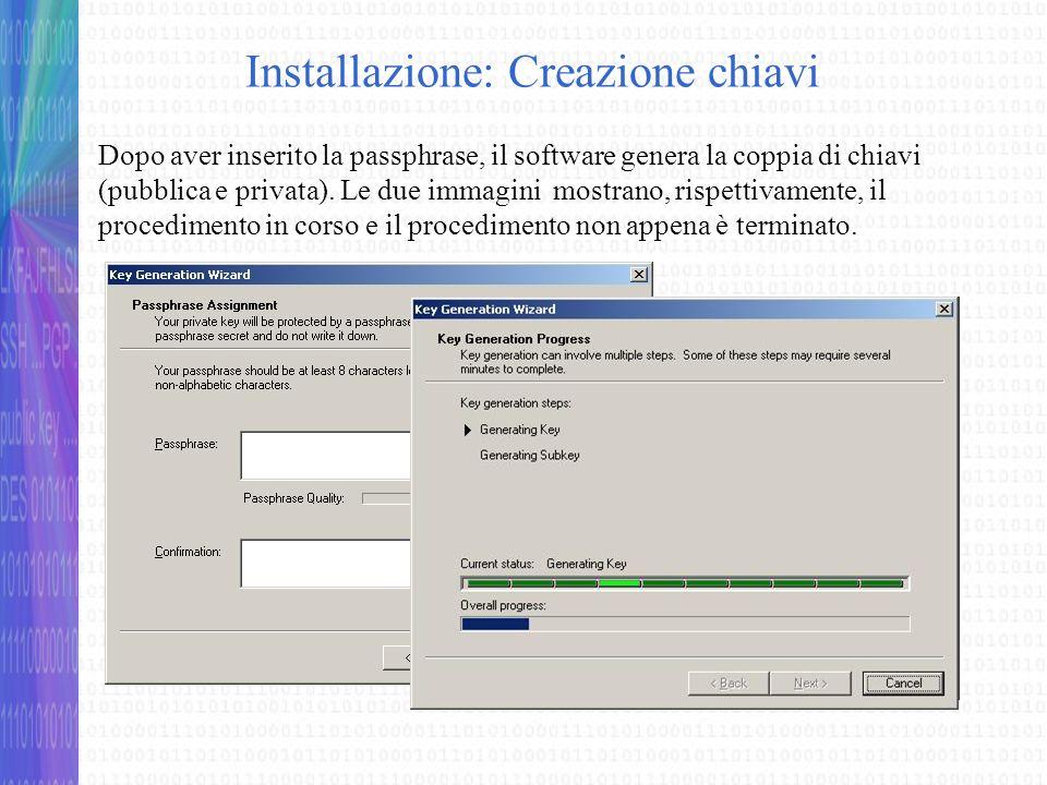 Creazione di un PGPDisk Quando si avvia PGPdisk per la prima volta il software avvia automaticamente il wizard per la creazione del volume cifrato.
