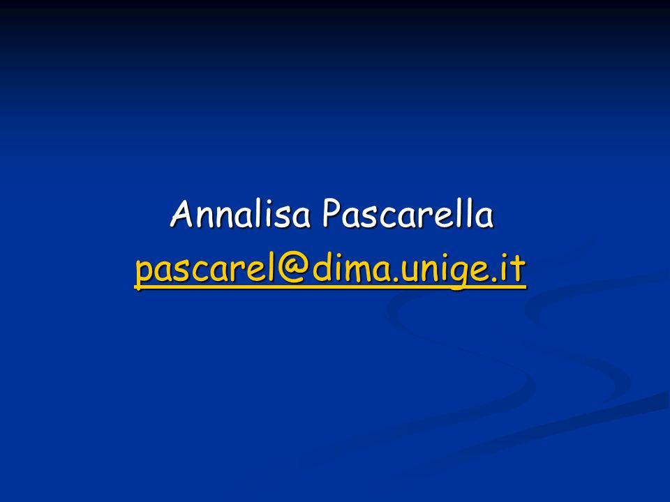 Annalisa Pascarella pascarel@dima.unige.it