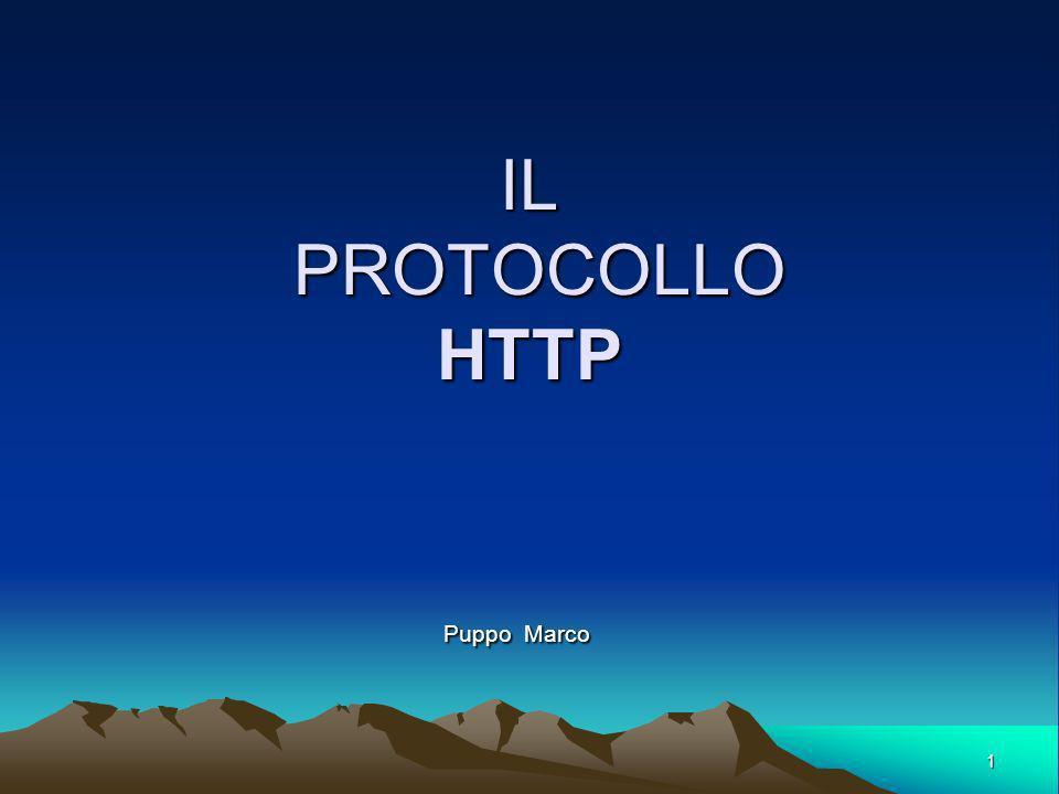 1 IL PROTOCOLLO HTTP Puppo Marco