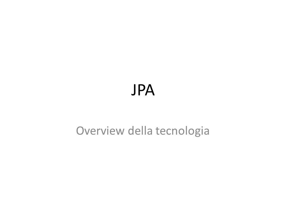 JPA Overview della tecnologia