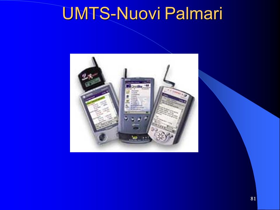 82 UMTS: Storia Lidea nasce nel 1985 con nome Future Public Land Mobile Telecommunications Systems (FPLMTS) Nel 1996 è stata ribattezzata International Mobile Telecommunications for the year 2000 (IMT- 2000).