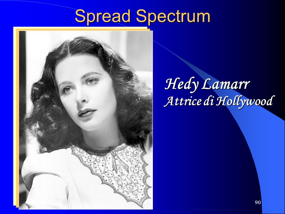 90 Spread Spectrum Hedy Lamarr Attrice di Hollywood