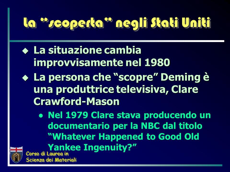 Corso di Laurea in Scienza dei Materiali La scoperta negli Stati Uniti La situazione cambia improvvisamente nel 1980 La situazione cambia improvvisame