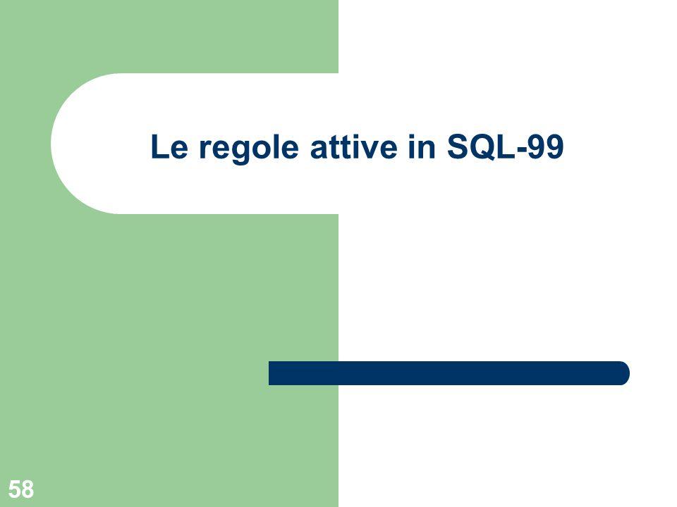 58 Le regole attive in SQL-99