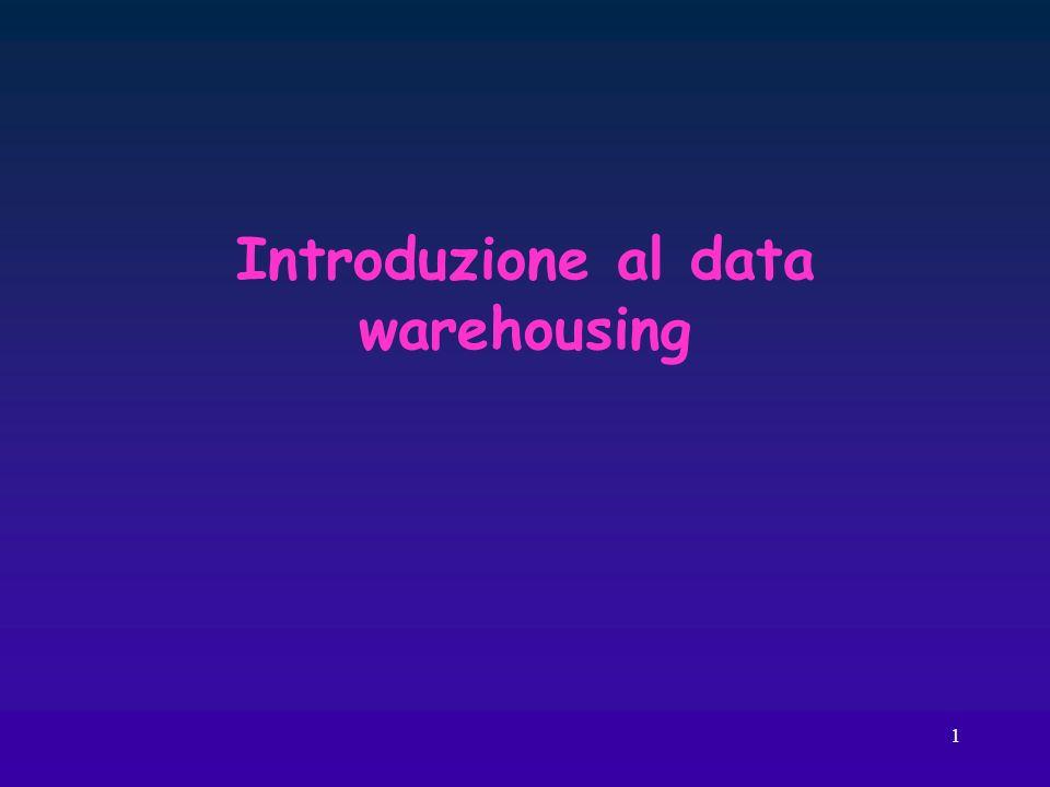 1 Introduzione al data warehousing