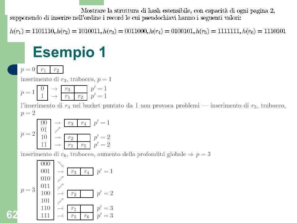 62 Esempio 1