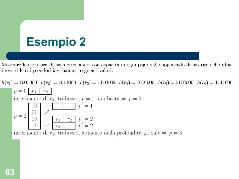 63 Esempio 2