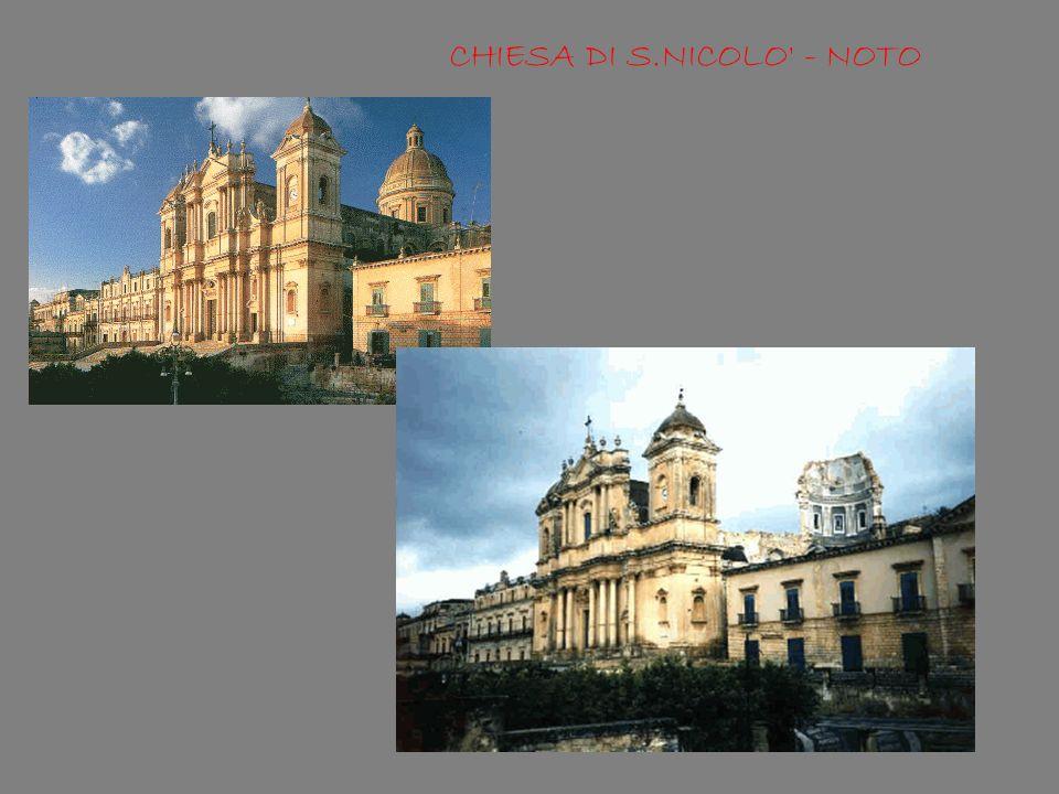 CHIESA DI S.NICOLO - NOTO