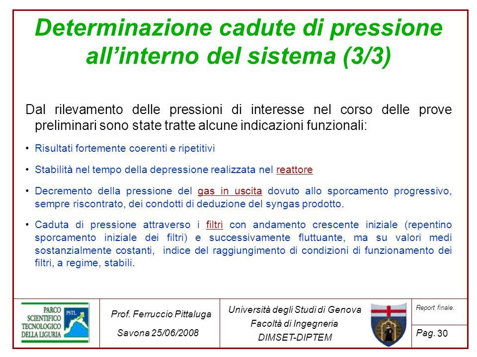 30 Università degli Studi di Genova Facoltà di Ingegneria DIMSET-DIPTEM Prof. Ferruccio Pittaluga Savona 25/06/2008 Report finale. Pag. Dal rilevament