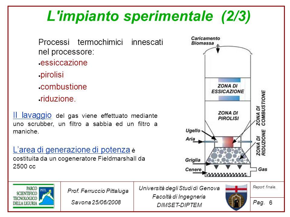 27 Università degli Studi di Genova Facoltà di Ingegneria DIMSET-DIPTEM Prof.