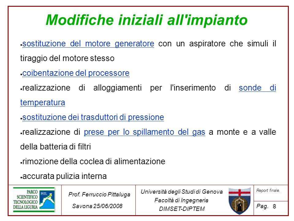 29 Università degli Studi di Genova Facoltà di Ingegneria DIMSET-DIPTEM Prof.