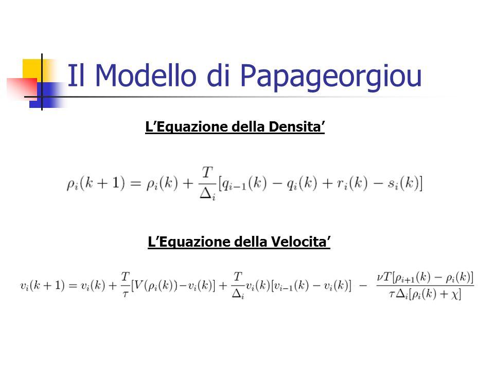 Il Modello di Papageorgiou LEquazione della Densita LEquazione della Velocita