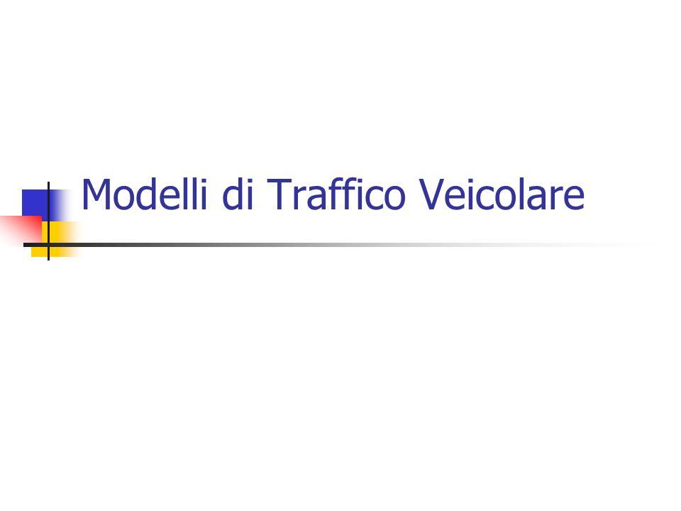 Modelli di Traffico Veicolare