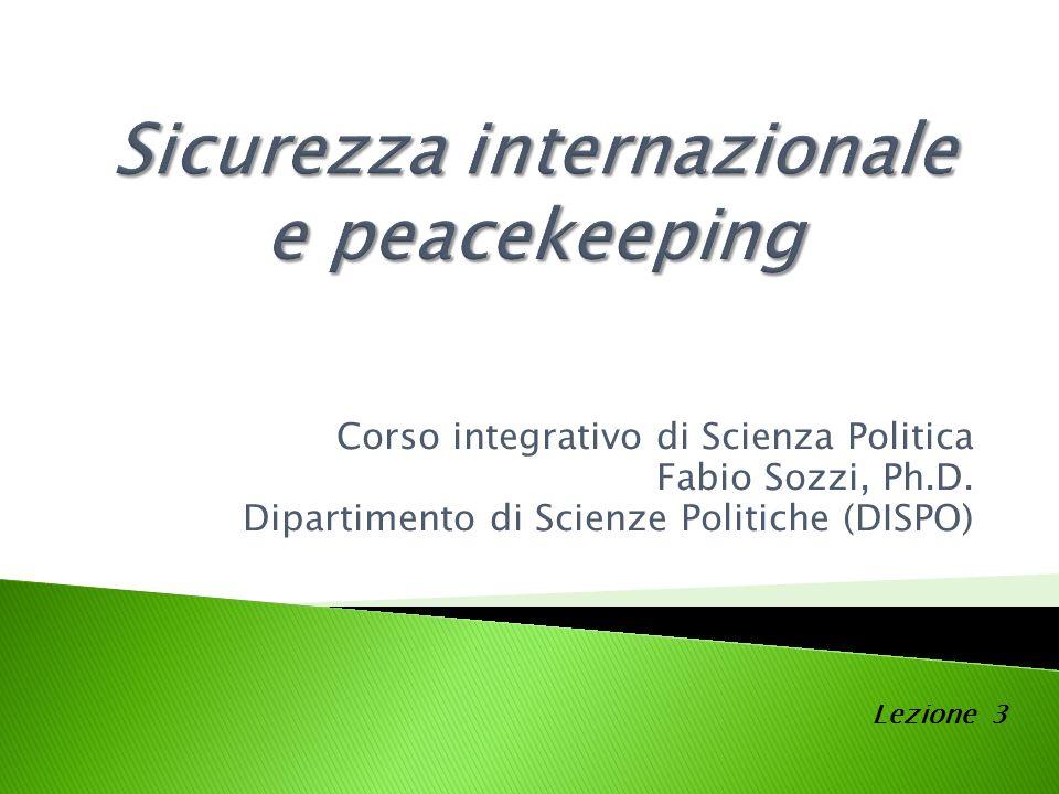 Corso integrativo di Scienza Politica Fabio Sozzi, Ph.D.