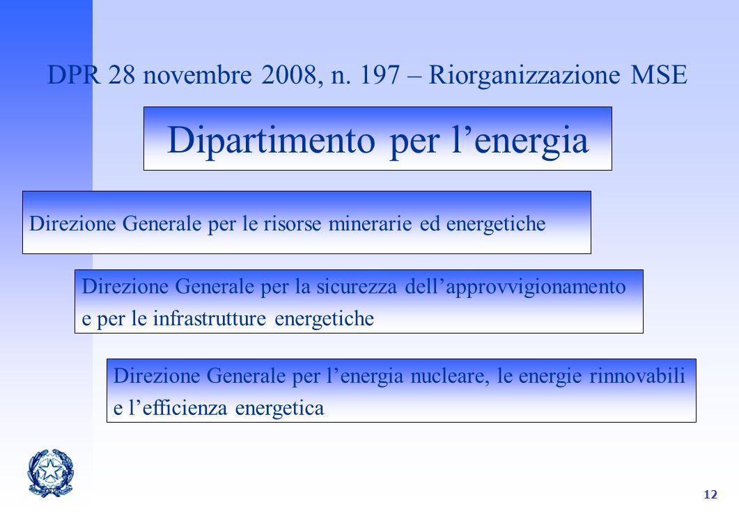 12 DPR 28 novembre 2008, n.