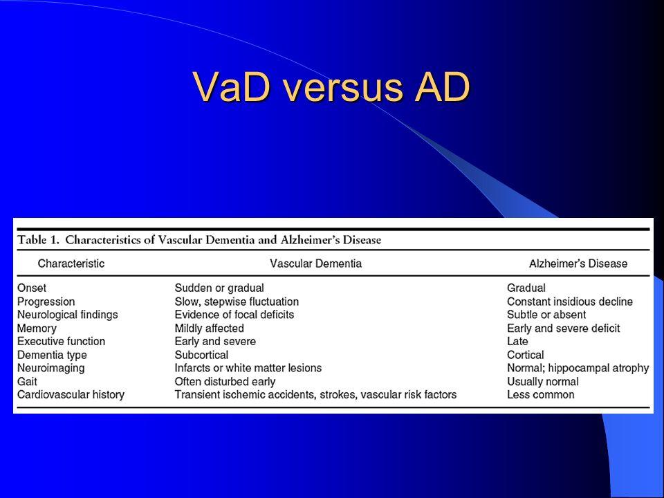 VaD versus AD