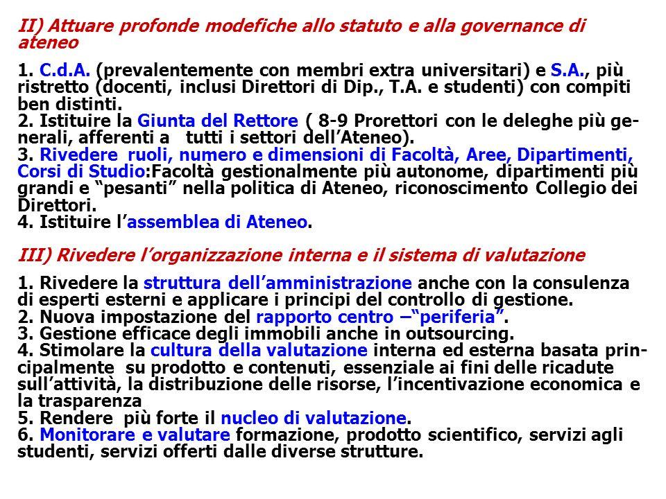 IV) Politiche per il personale 1.