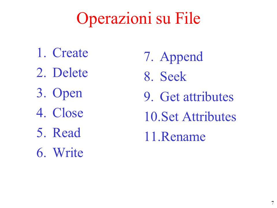 8 Sistemi con directory gerarchiche Una gerarchia di directory