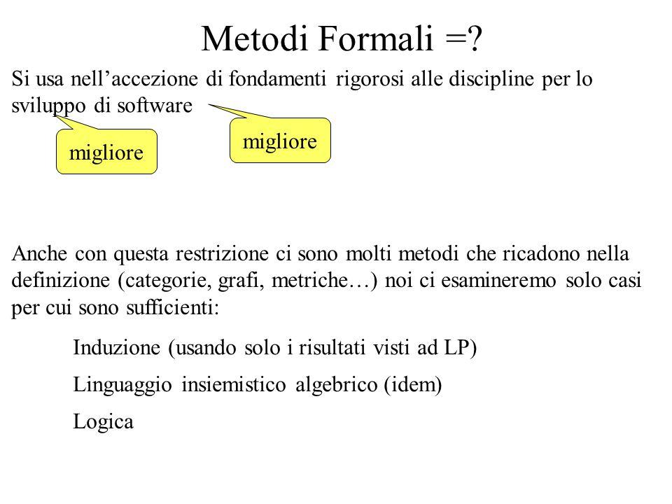 Metodi Formali =.
