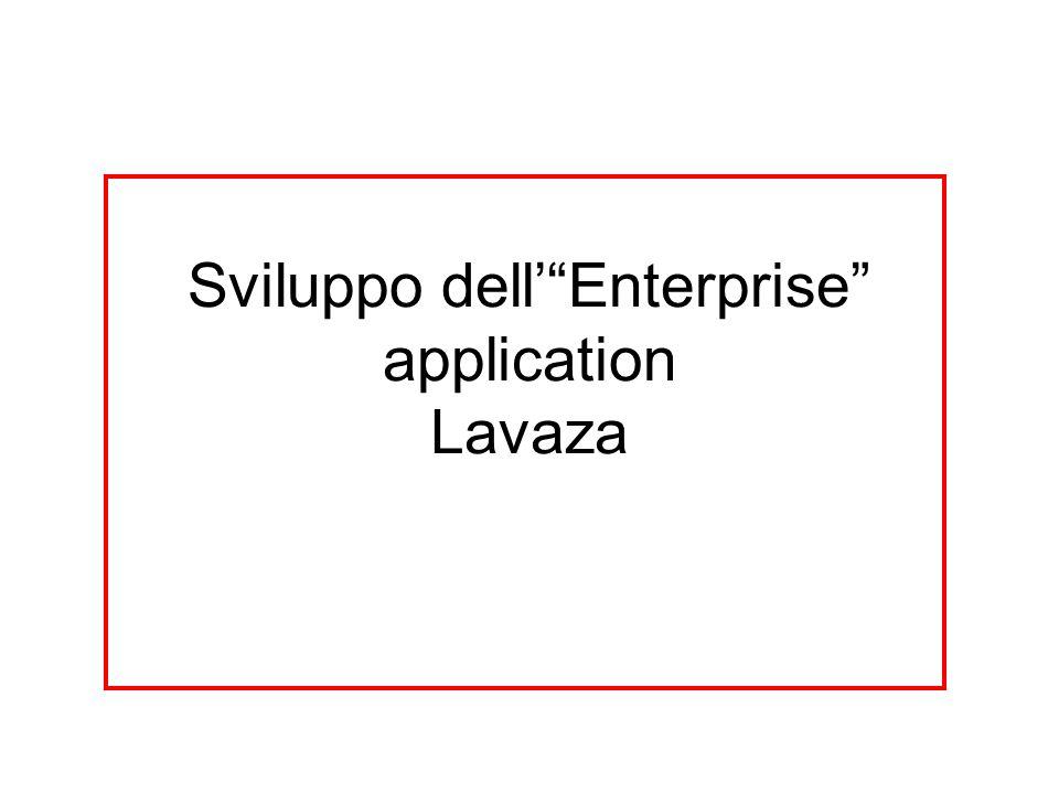 Sviluppo dellEnterprise application Lavaza