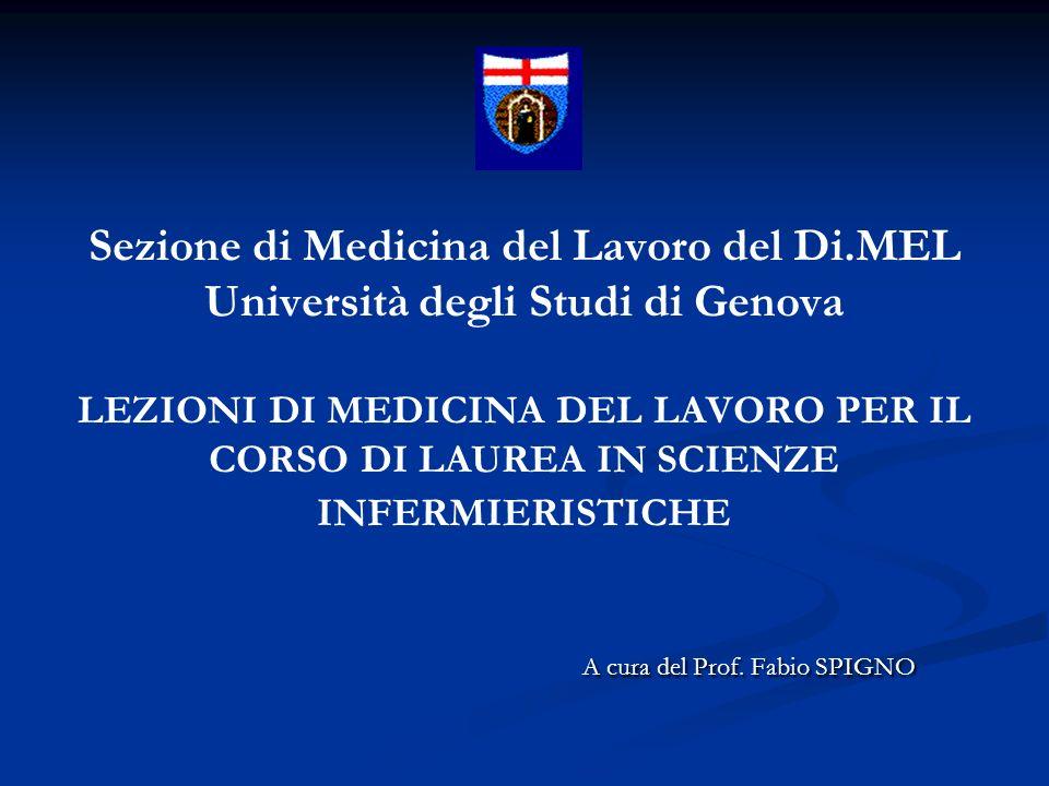 LEGISLAZIONE in Medicina del Lavoro La tutela della salute del lavoratore trova fondamento in alcuni articoli della Costituzione della Repubblica Italiana.