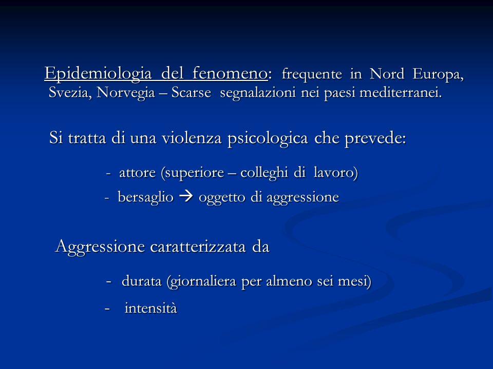 Epidemiologia del fenomeno: frequente in Nord Europa, Svezia, Norvegia – Scarse segnalazioni nei paesi mediterranei. Epidemiologia del fenomeno: frequ