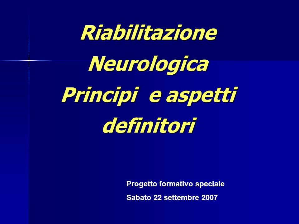 Reabilitazione neurologica: elementi per la definizione Scopi della riabilitazione Scopi della riabilitazione Processo della riabilitazione Processo della riabilitazione Caratteristiche di un servizio di riabilitazione Caratteristiche di un servizio di riabilitazione