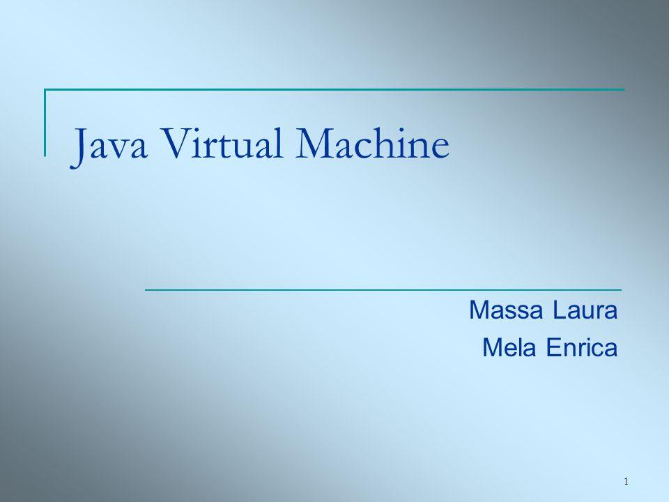 22 Frame Ogni frame ospita un vettore di parole contenente i valori delle variabili locali Le istruzioni della JVM estraggono i valori su cui operare dallo stack delgli operandi del frame corrente Ogni frame contiene un riferimento al tipo del metodo corrente nel constant pool (supporto del Dynamic Linking)