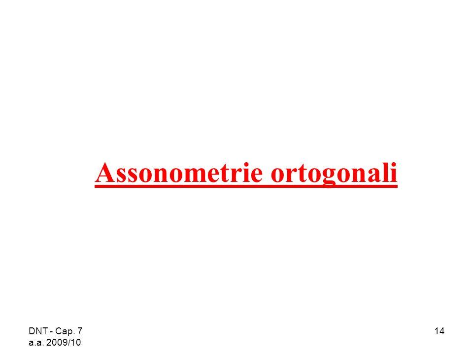 DNT - Cap. 7 a.a. 2009/10 14 Assonometrie ortogonali
