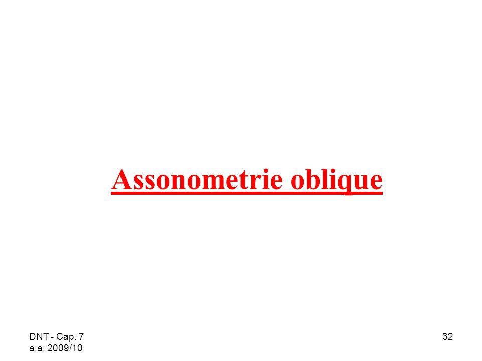 DNT - Cap. 7 a.a. 2009/10 32 Assonometrie oblique
