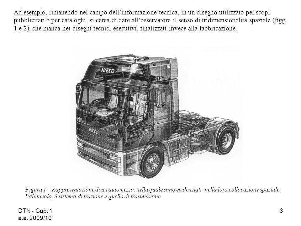 DTN - Cap. 1 a.a. 2009/10 3 Figura 1 – Rappresentazione di un automezzo, nella quale sono evidenziati, nella loro collocazione spaziale, labitacolo, i