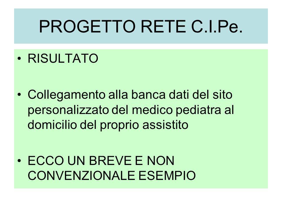 PROGETTO RETE C.I.Pe.
