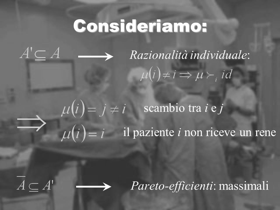 Dominanza secondo Lorenz Riordiniamo il vettore in ordine crescente Diciamo che il profilo di utilità egualitario domina secondo Lorenz ogni altro profilo di utilità fattibile, cioè che per ogni v profilo di utilità fattibile ordinato in ordine crescente