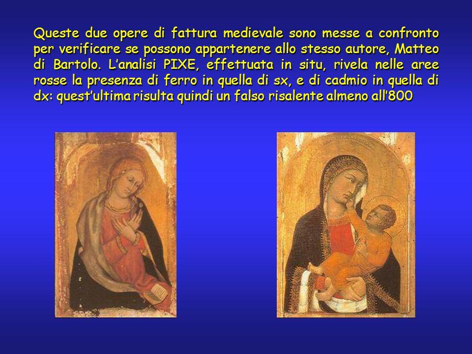 Queste due opere di fattura medievale sono messe a confronto per verificare se possono appartenere allo stesso autore, Matteo di Bartolo.
